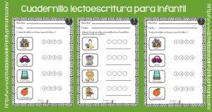 Cuadernillo lectoescritura para infantil