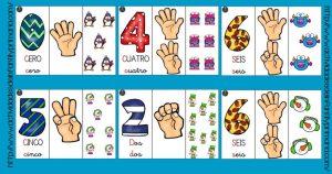 Libro móvil de los Números del 1 al 10