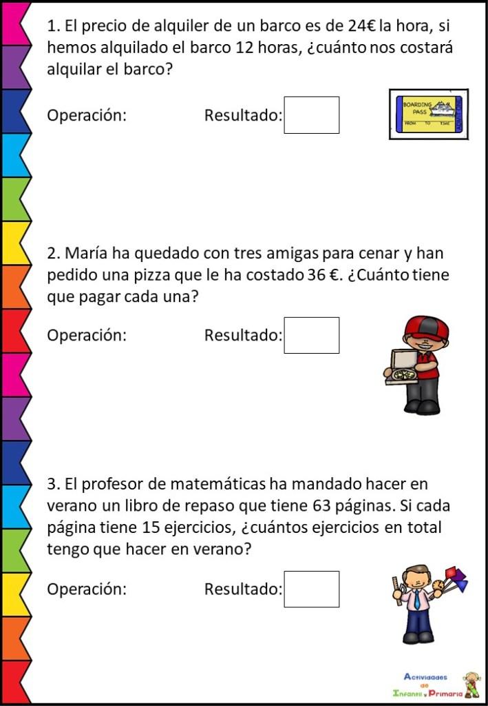 Colección De Problemas Matemáticos Segundo Ciclo Primaria Orientacion Andujar