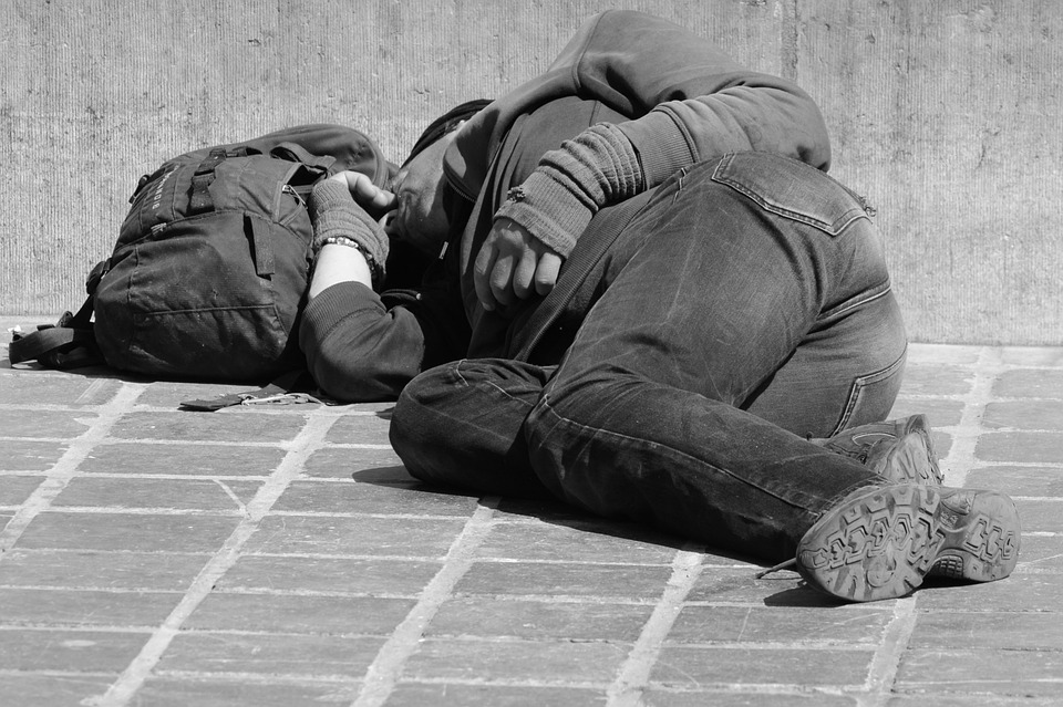 homeless London
