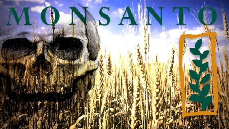 Monsanto skull - crimes against humanity