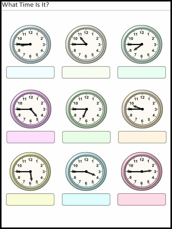 What Time Is It Worksheets For Children 31