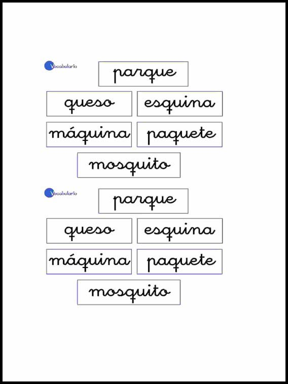 Printable Worksheets For Kids Vocabulary To Learn Spanish 18