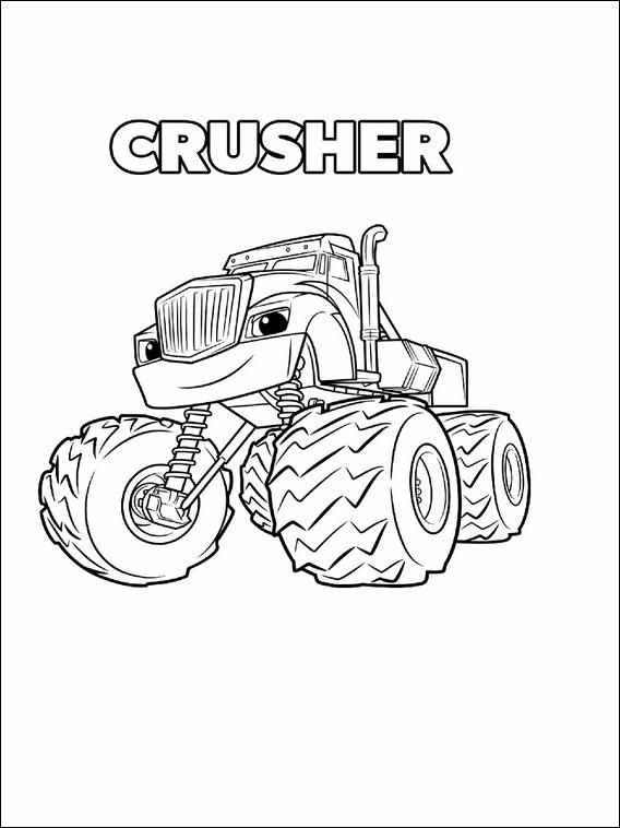 Blaze and the Monster Machines Printable Coloring Pages 3