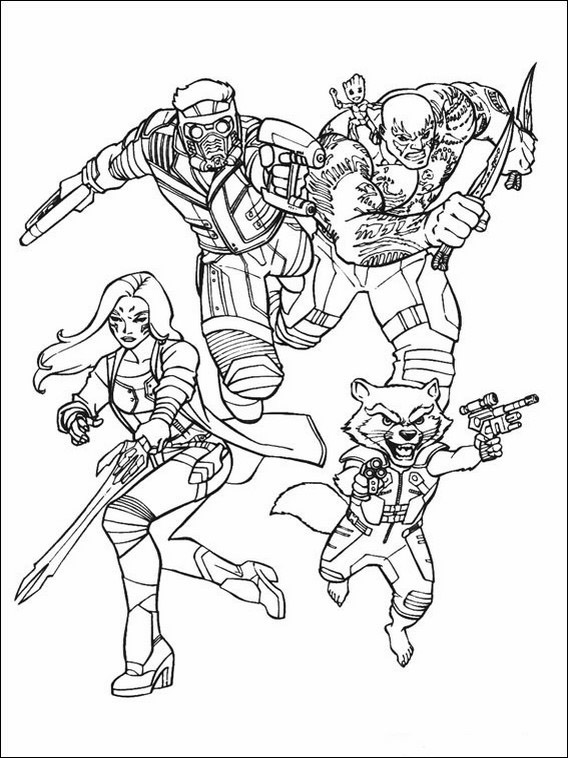 Guardians Of The Galaxy Coloring Book 26