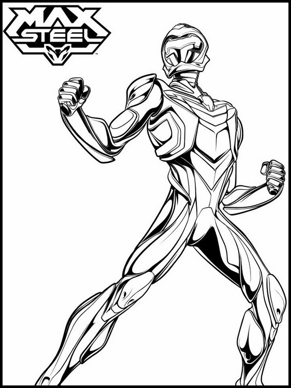 Max Steel Printable Coloring Pages 19