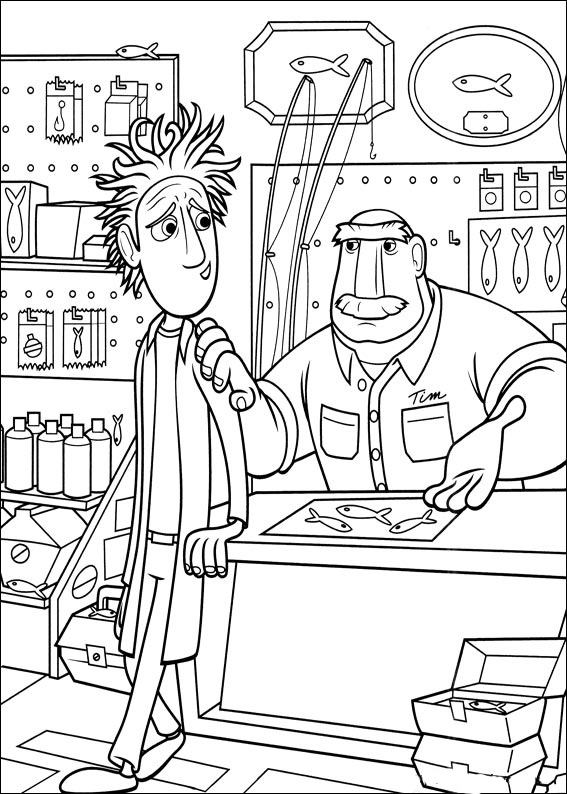 cloudy with a chance of meatballs coloring pages # 75