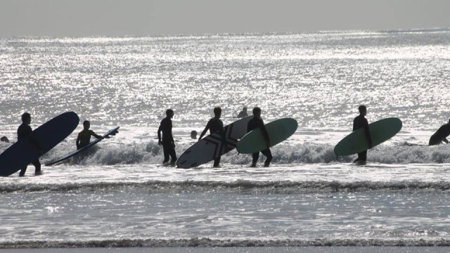 surfing for group in lisbon