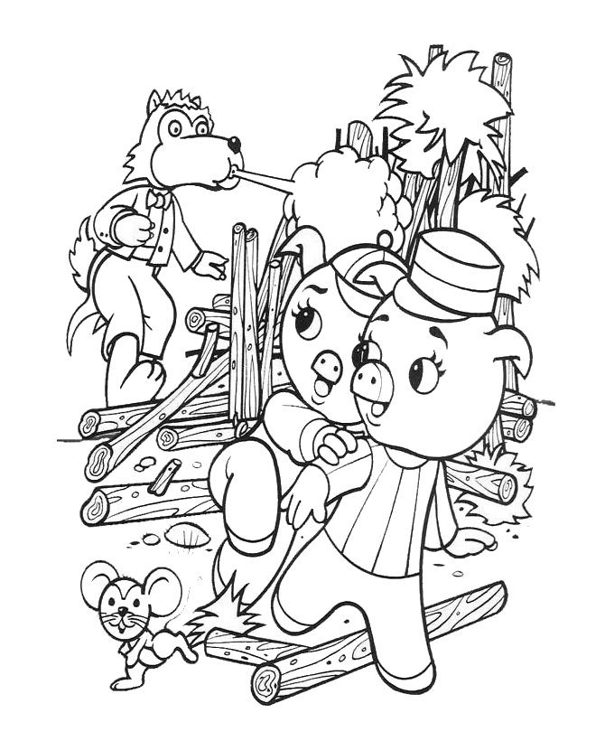 Pin Little Pigs Colouring Pages on Pinterest