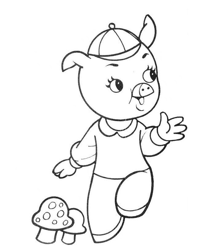 3 Little Pigs Walking Pages Coloring Pages