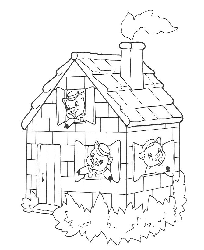 Brick House Coloring Pages Coloring Pages