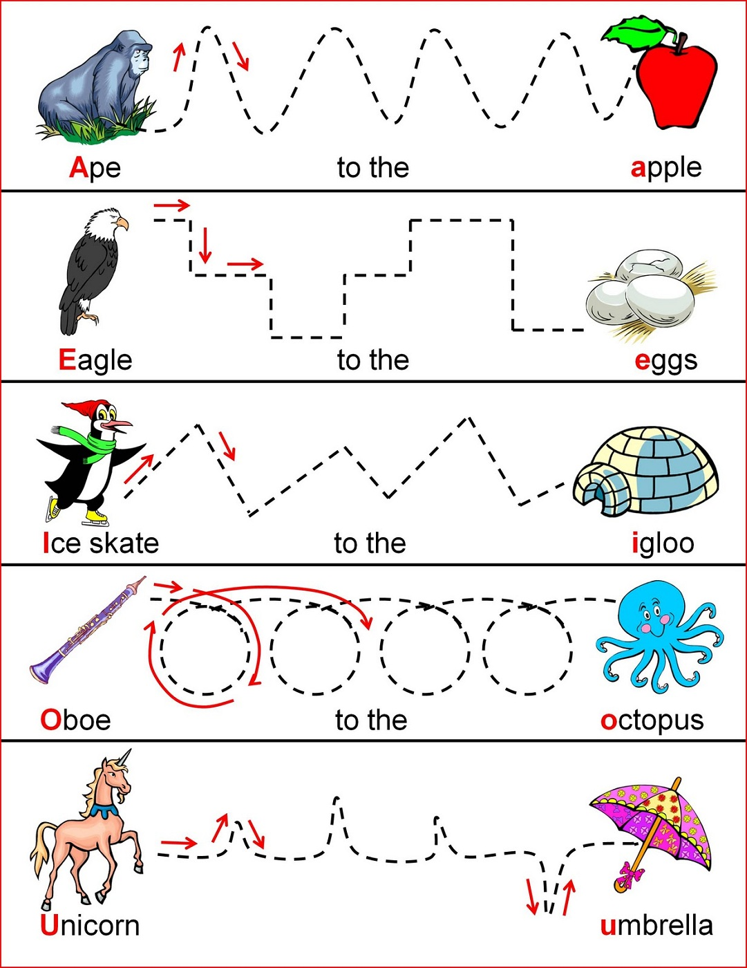 4 Year Old Worksheets Printable Tracing Line Activity