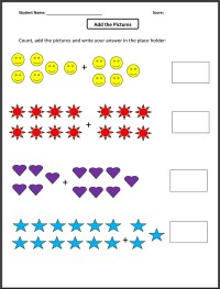 worksheet simple addition and subtraction