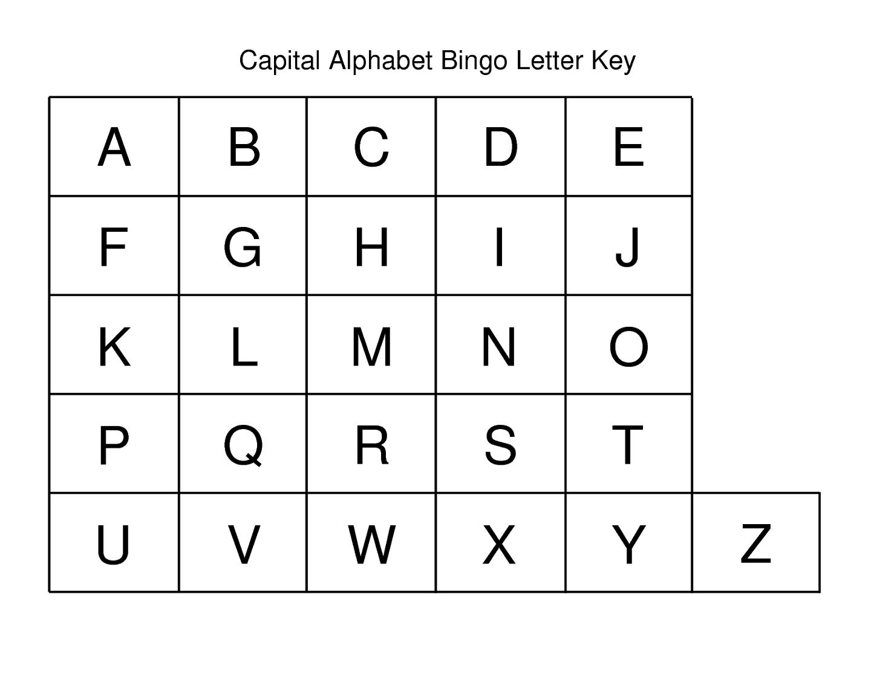 Capital Letters Alphabet For Kids
