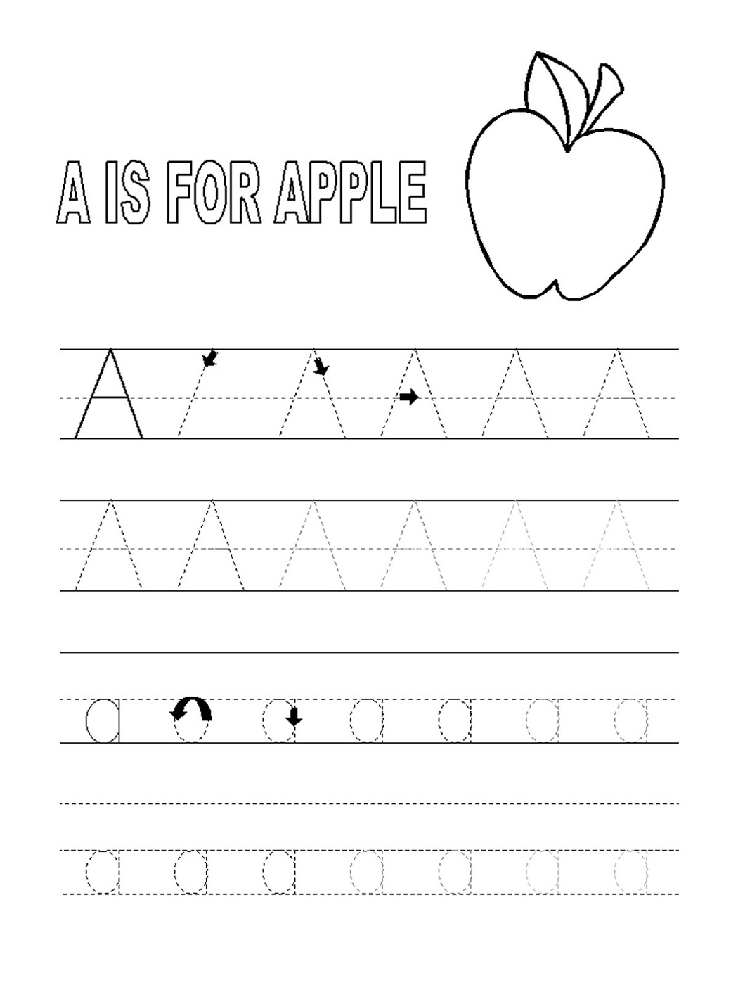 Letter A Worksheets For 2 Year Olds