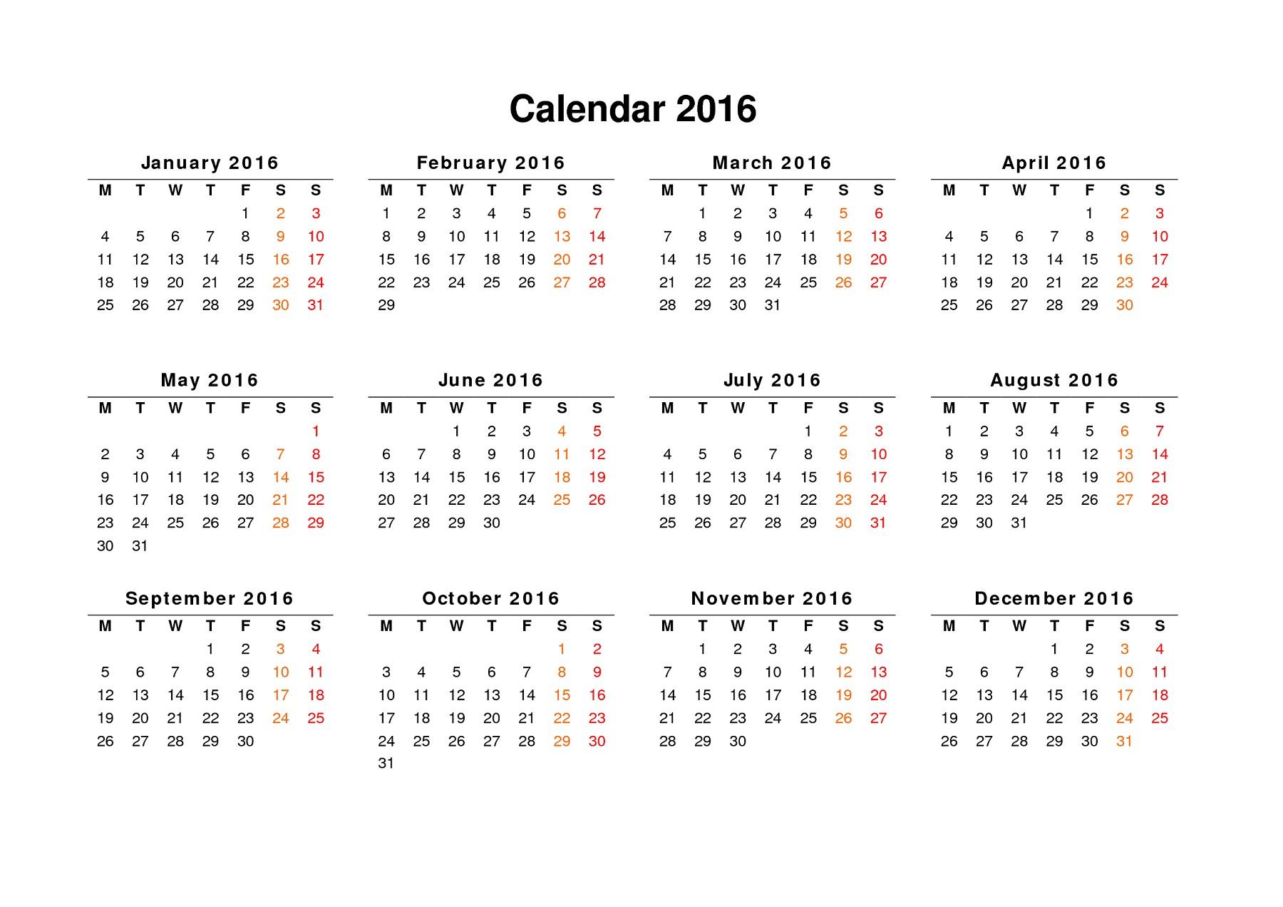 Calendar To Print