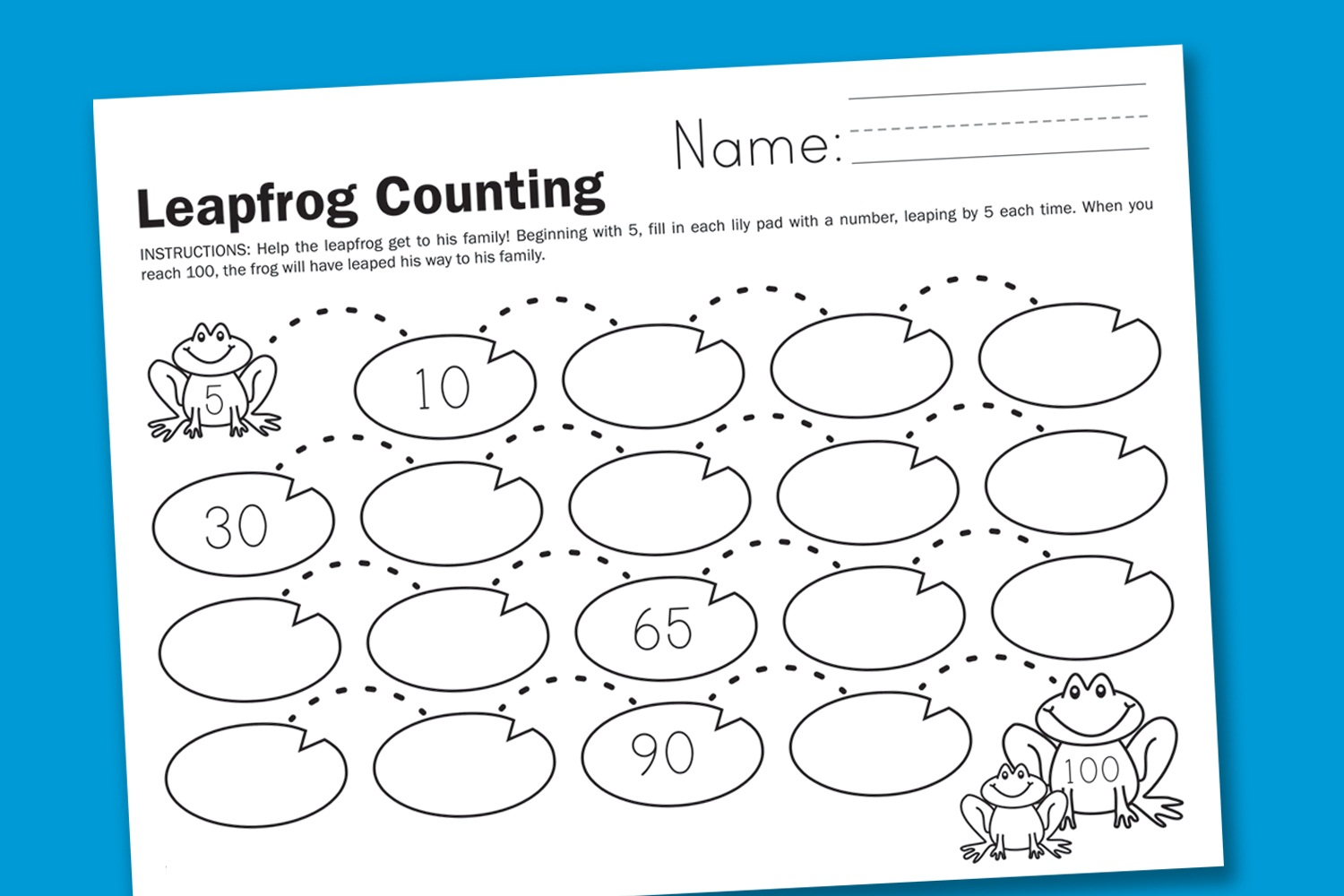 Change Counting 5s Worksheet