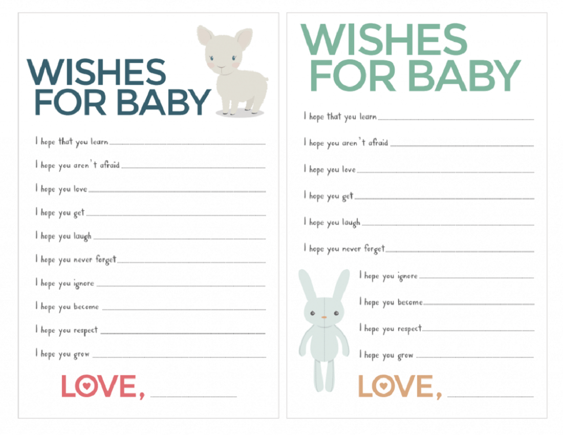 Free Baby Shower Games Printouts