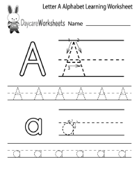Kindergarten Alphabet Worksheets Printable | Activity Shelter