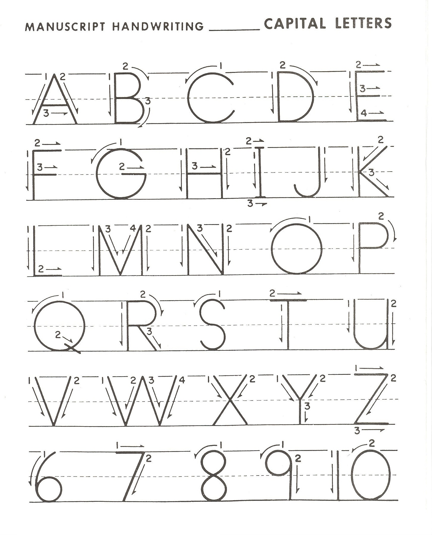 Alphabet Writing Practice Preschool