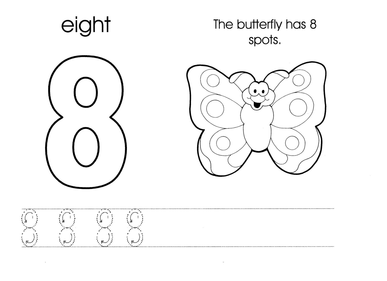 Teeth Worksheet With Number 8