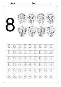 Number 8 Worksheets Printable | Activity Shelter