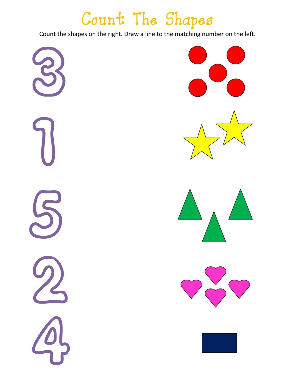Coloring Pages Numbers And Shapes