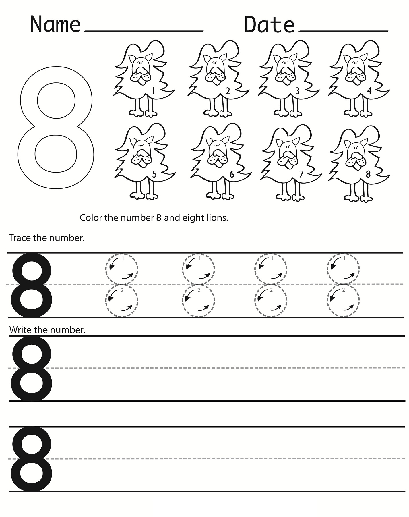 Free Number Writing Worksheet