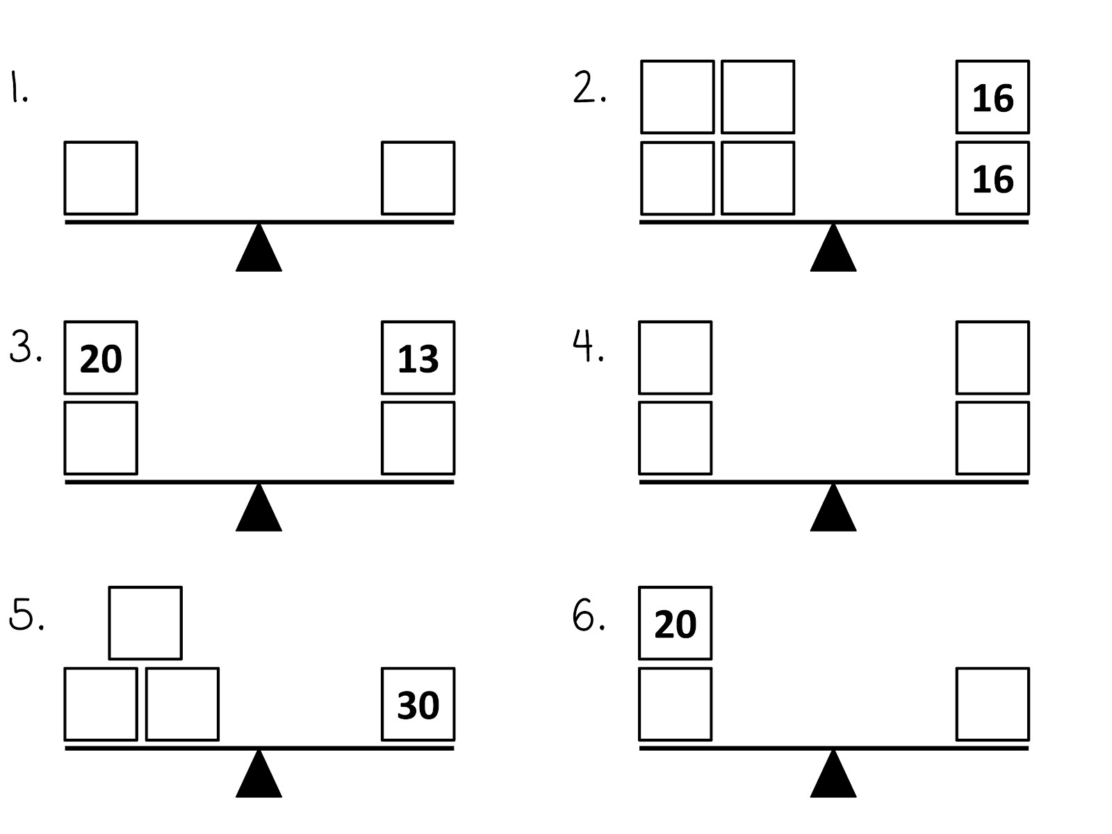 Balancing Worksheet Number 2