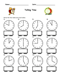 Maths Worksheets Blank Clock Faces - grade 2 telling time ...