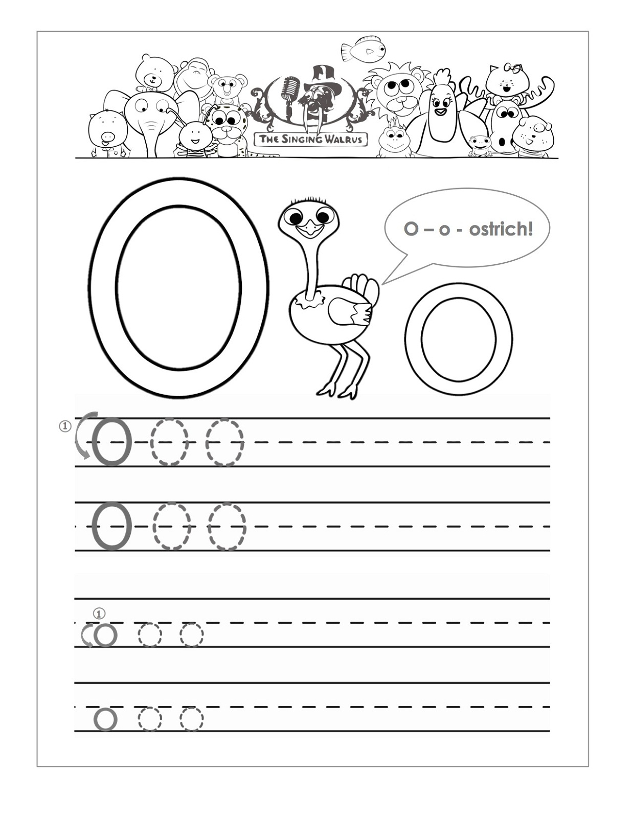 Letter O Worksheets For Preschool