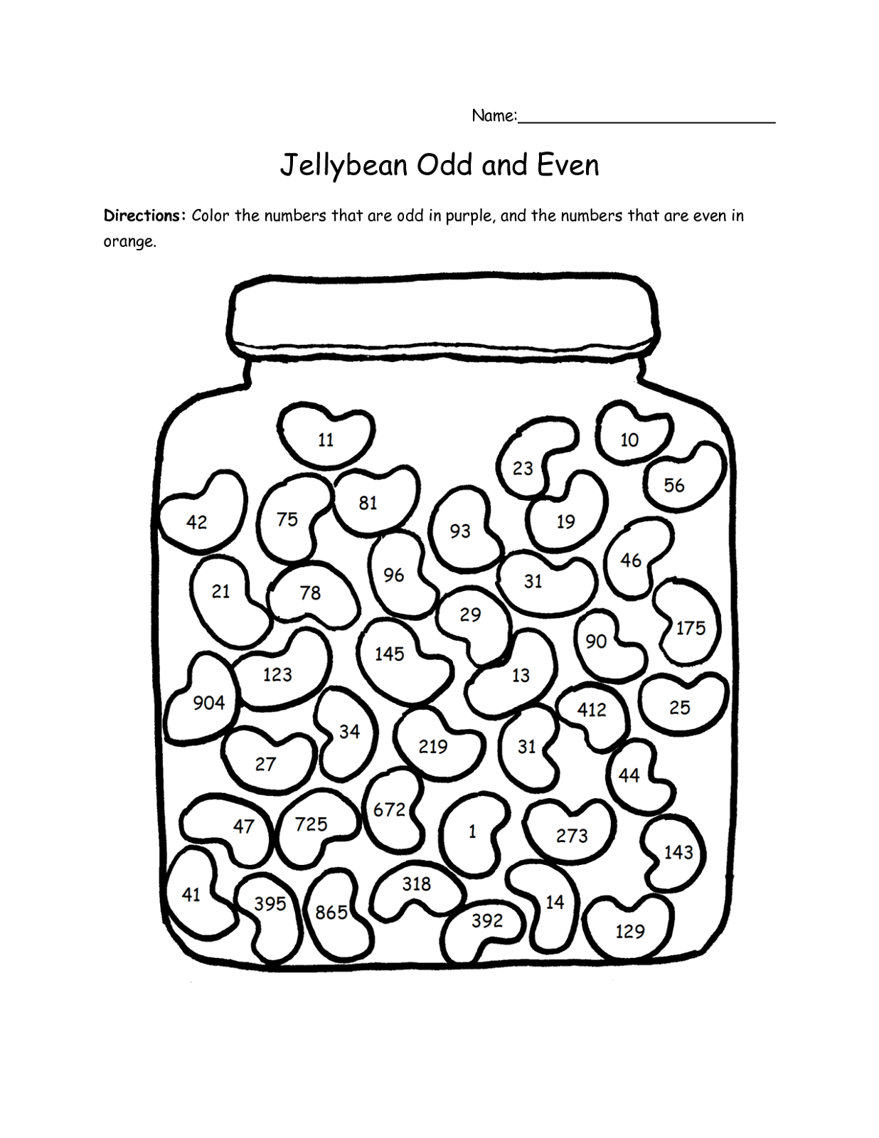 Odd And Even Worksheets For Kids