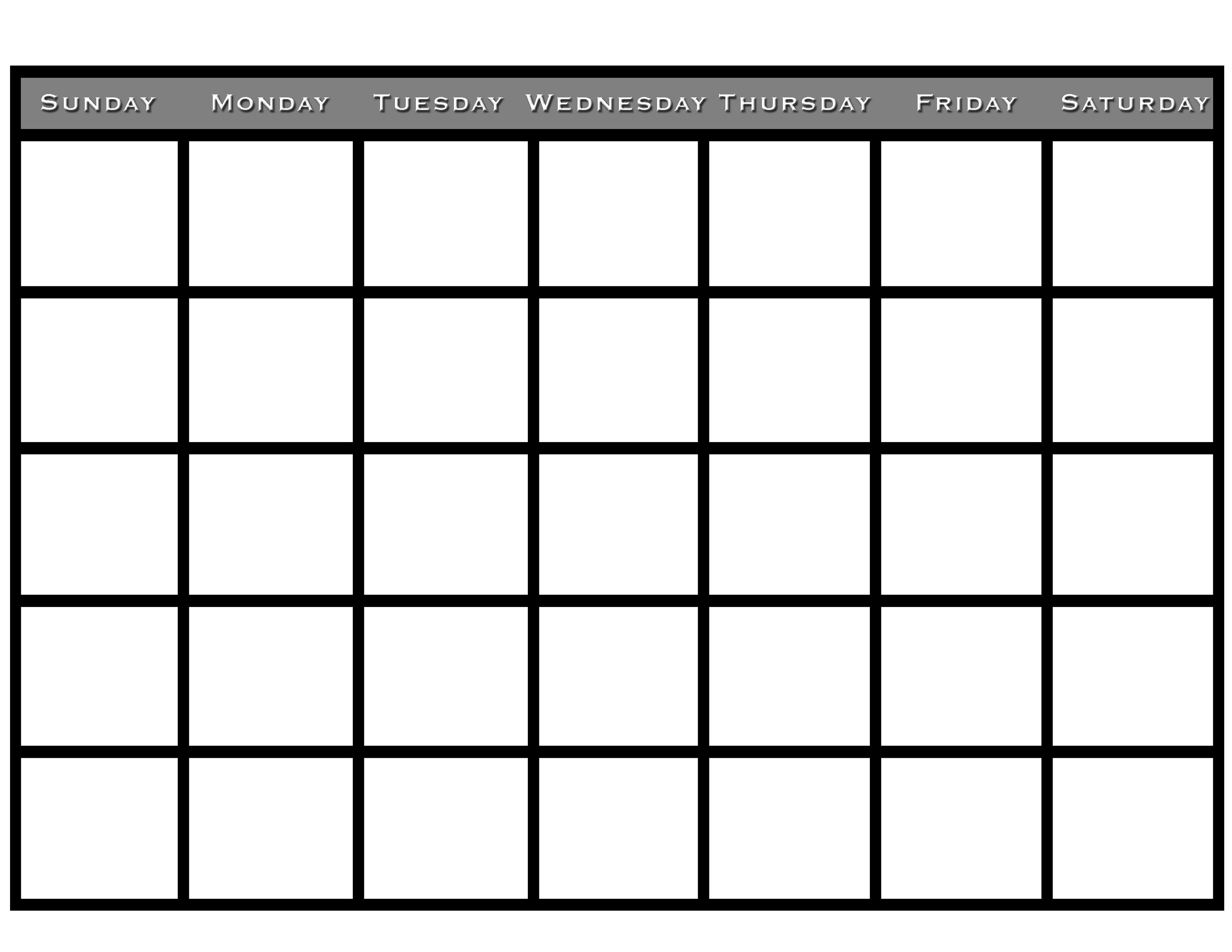 They help you keep track of simple — but critically important — dates, like upcoming birthdays and anniversaries, but if you lead a busy life, their usefulness extends fa. Printable Blank Monthly Calendar   Activity Shelter