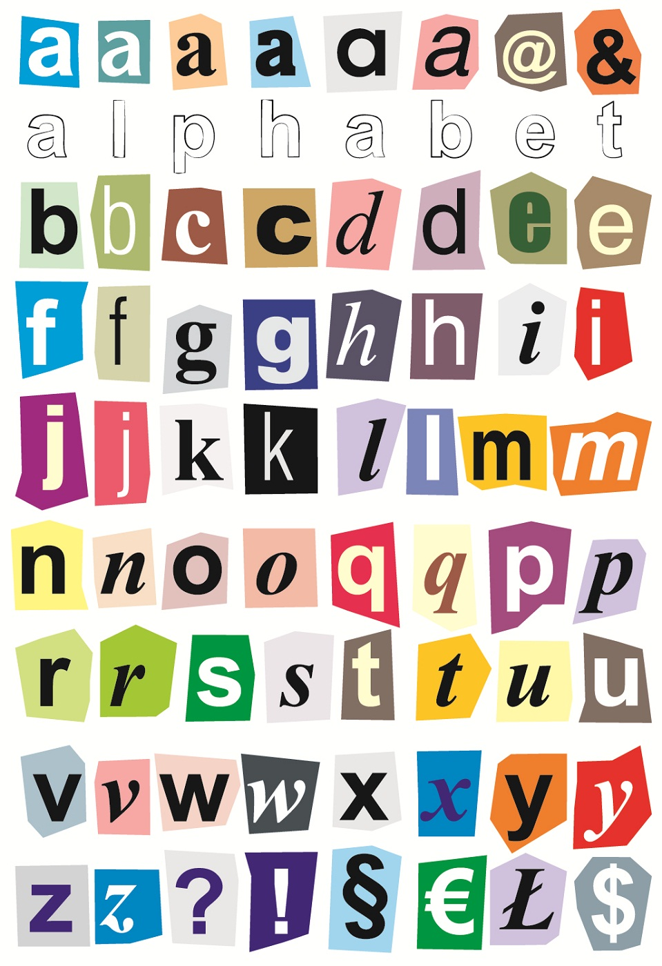 Small Printable Alphabet Letters