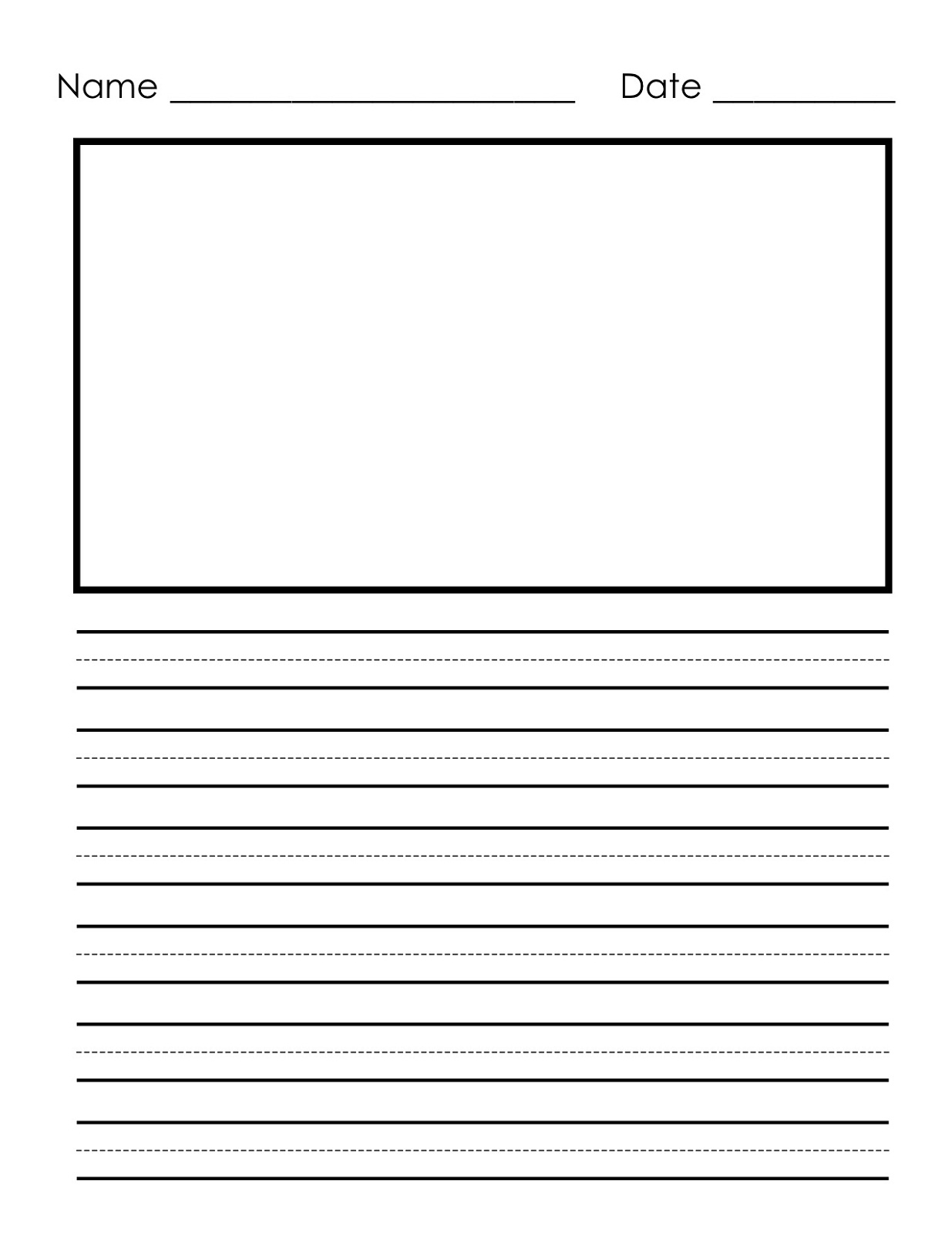Writing Paper Printable For Children