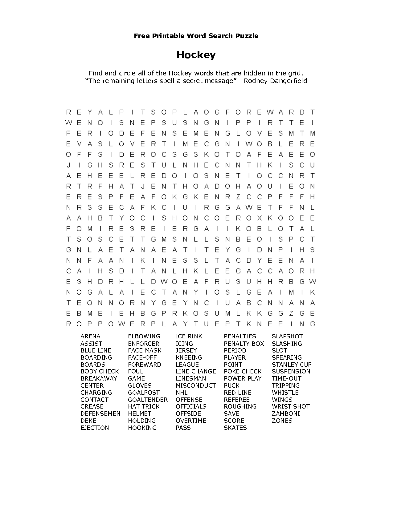 Free Printable Word Searches