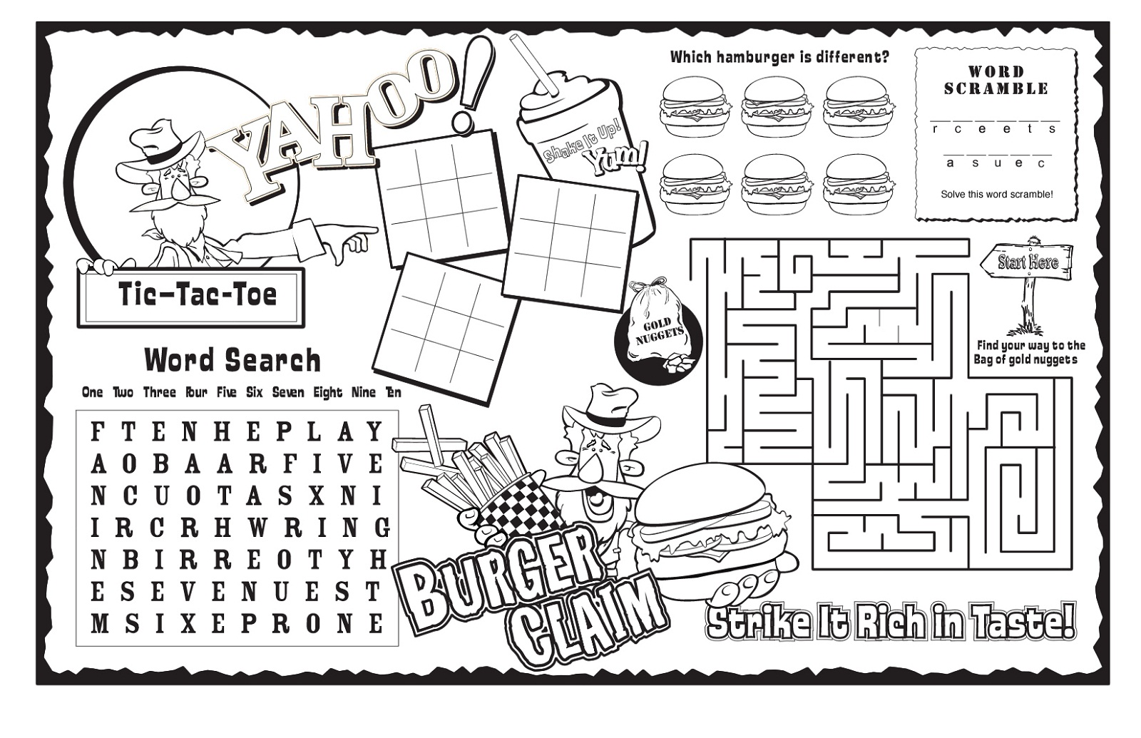 Kids Activity Sheets Printable