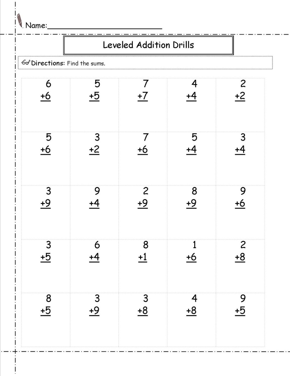 medium resolution of Math Worksheets for Grade 1   Activity Shelter
