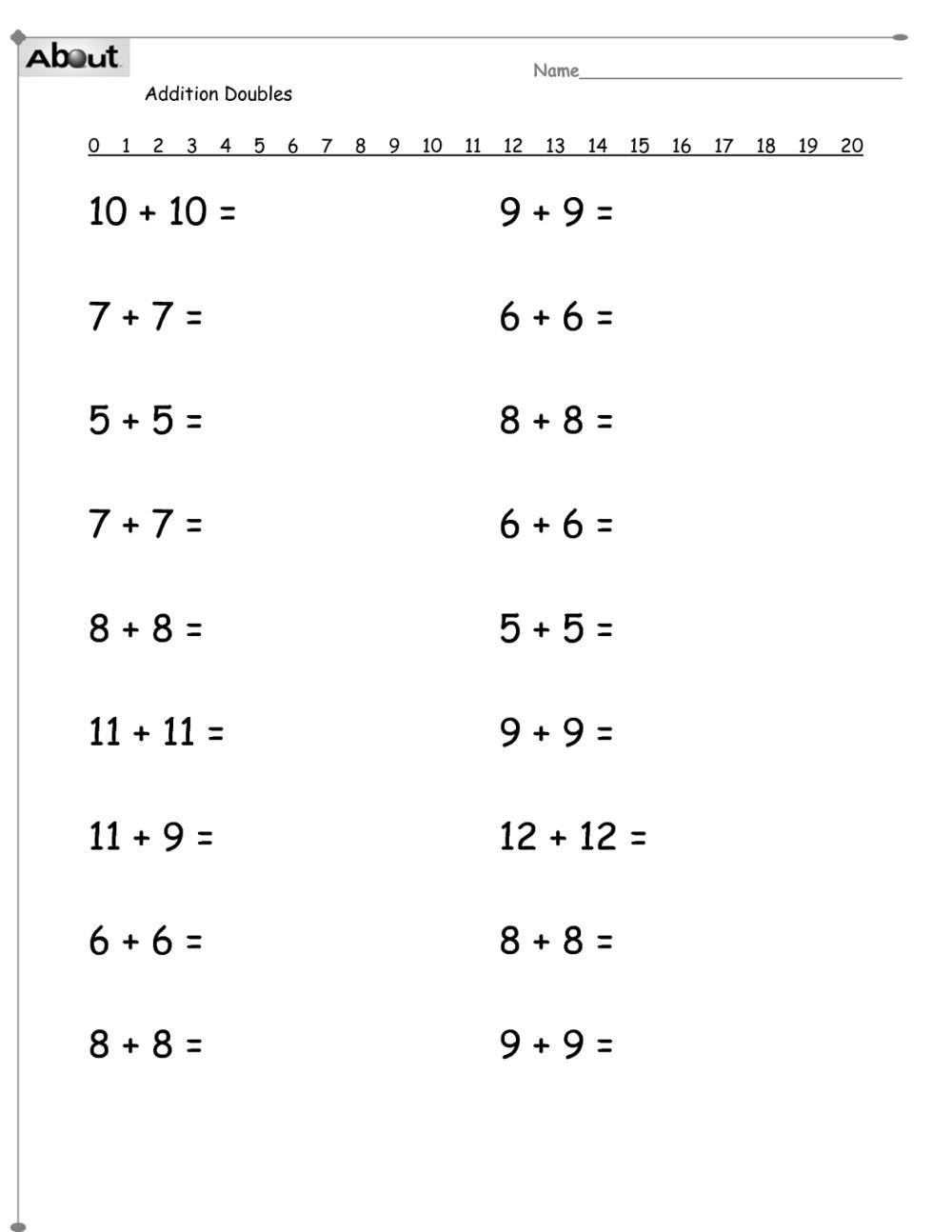 medium resolution of Math Worksheets for Grade 1   Activity Shelter