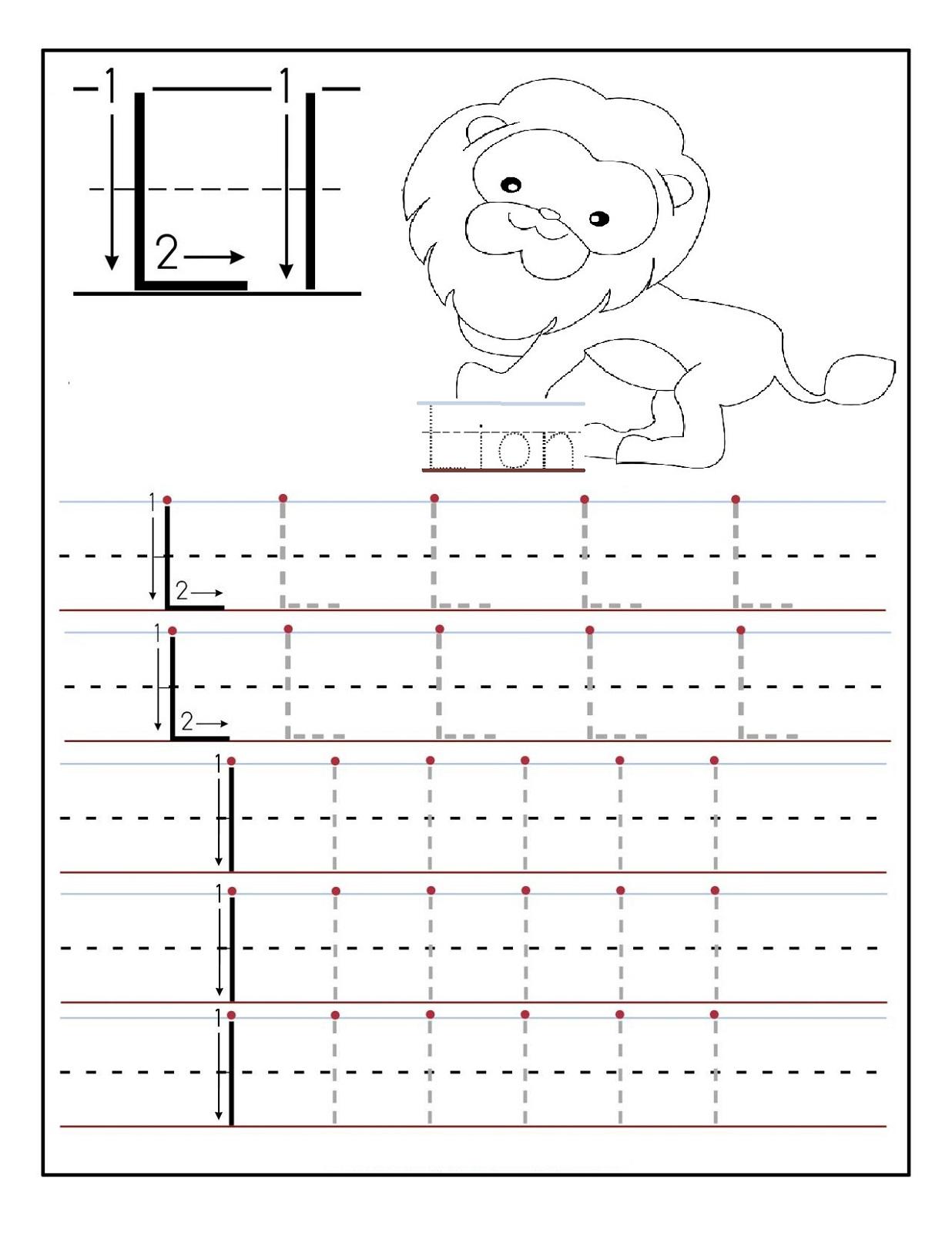 1 100 Worksheet J Tracing Letters