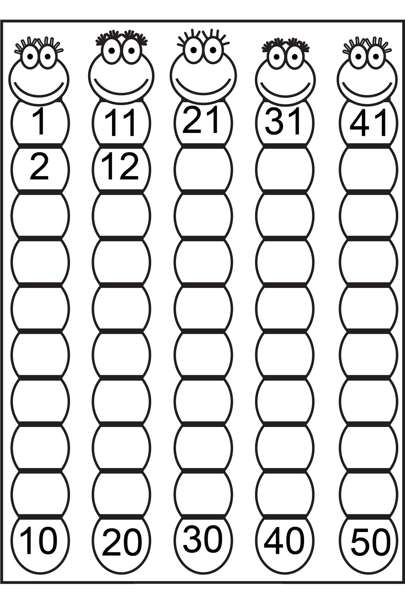 Tal Worksheet Counting To 20