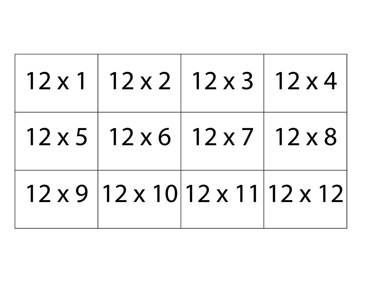 graphic about Printable Times Table Flash Cards titled Printable Multiplication Tables Flash Playing cards
