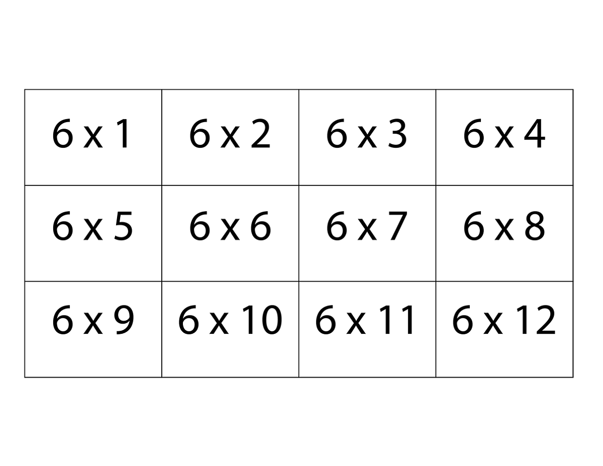 Printable Multiplication Flash Cards 9