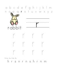 R Abc Preschool Printable Worksheets. R. Best Free