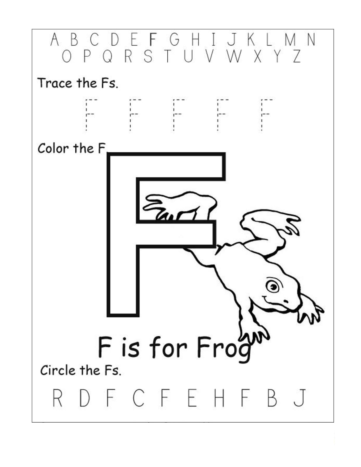 Alphabet Worksheets Free