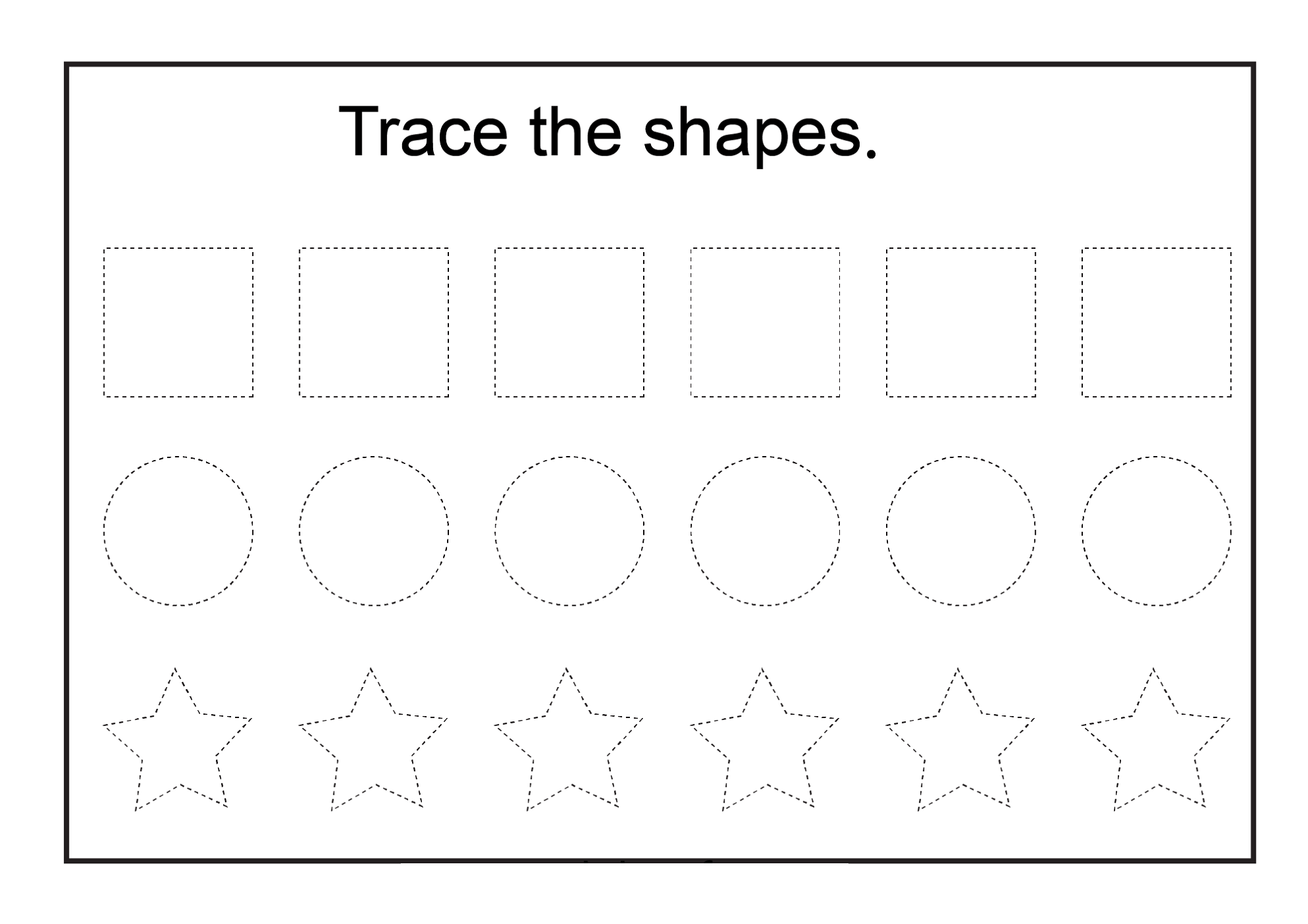 Printable Basic Shapes Worksheets
