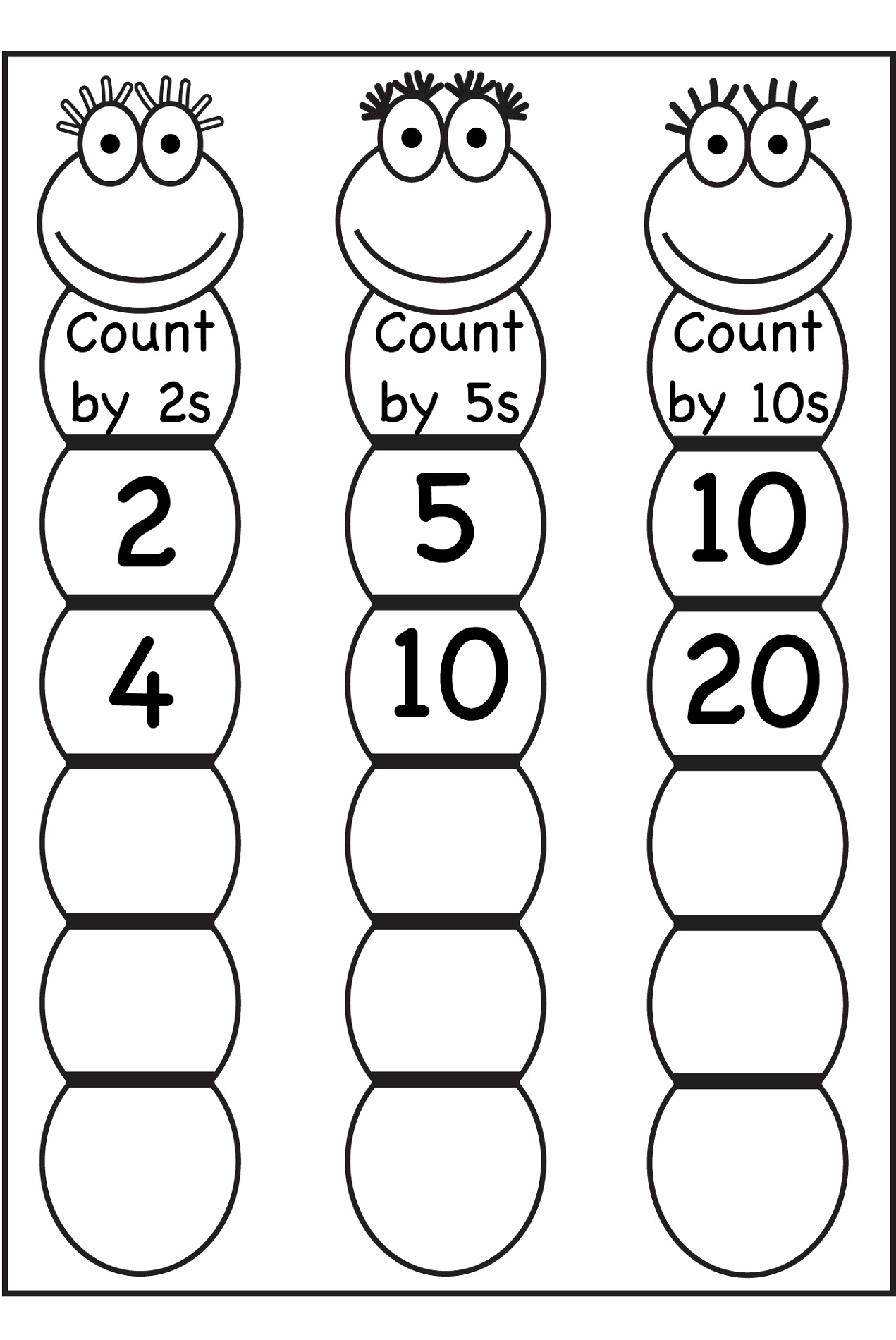 Before And After Number Worksheets