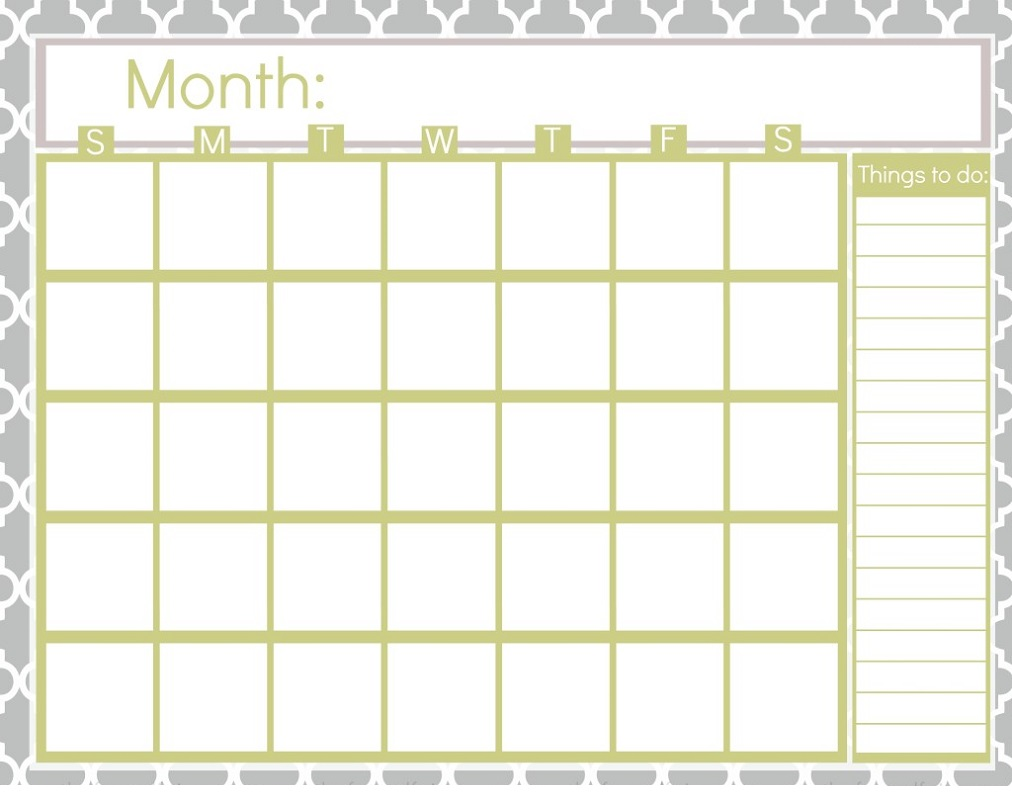 You may choose from the 11 blank calendars in pdf format and some of them are fillable pdfs, you may print them after filling in your notes and reminders. Printable Blank Calendar Pages | Activity Shelter