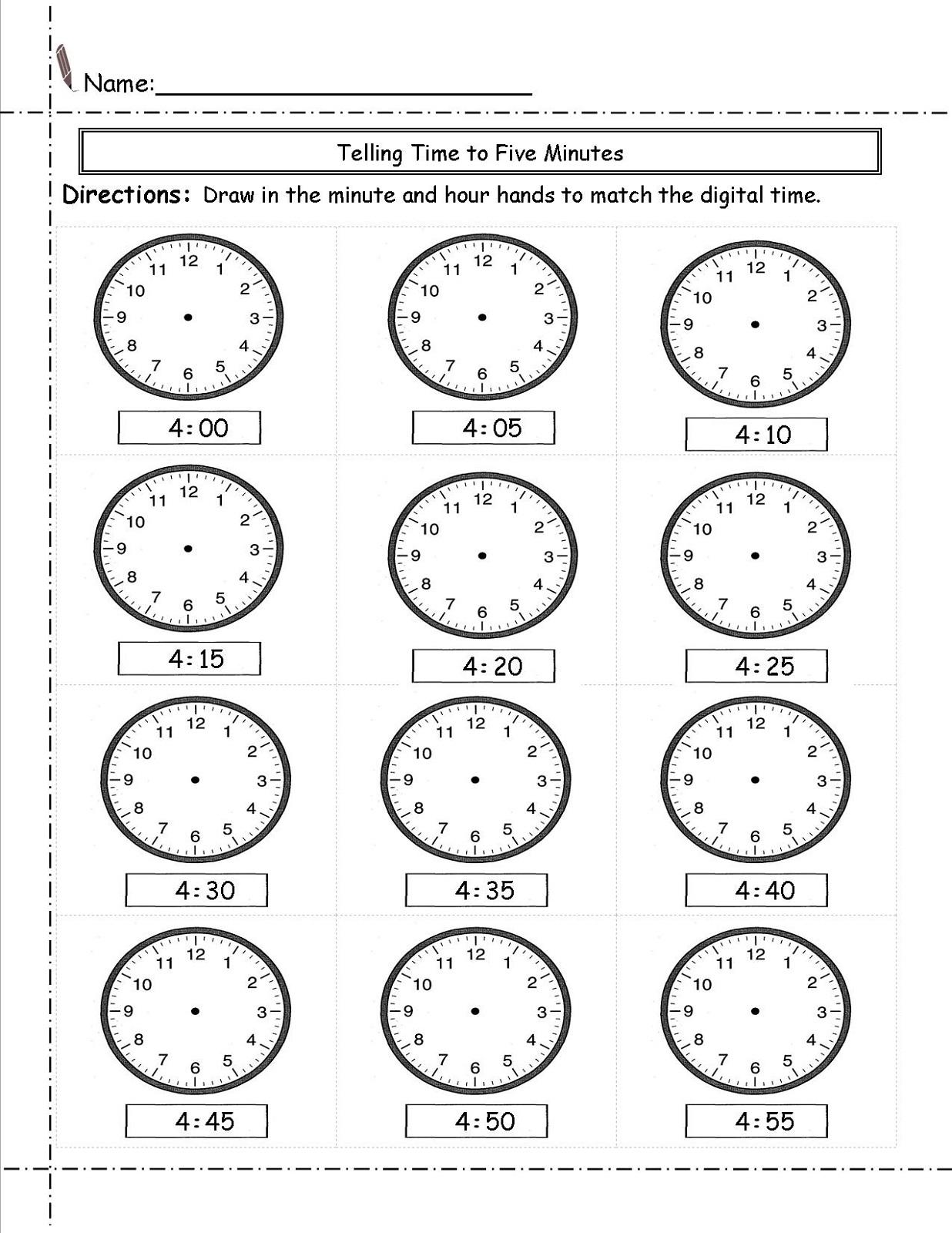 Worksheet Time Elapsed