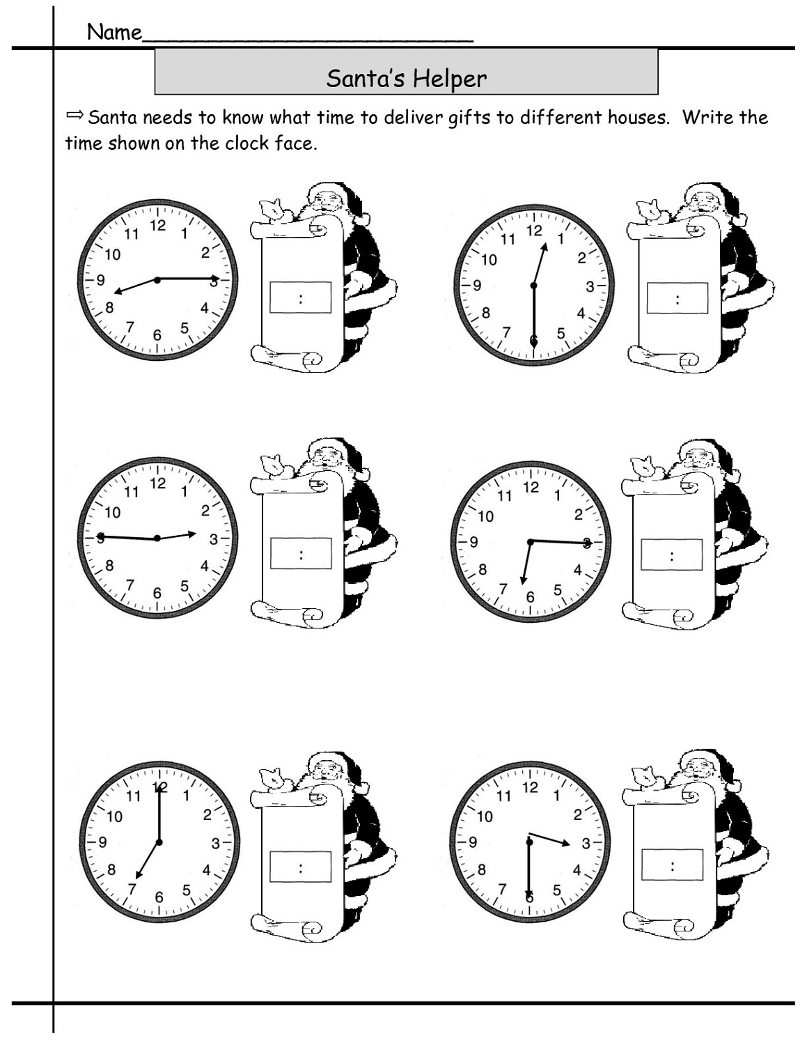 Time Difference Worksheet